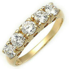 Size 6,7,8,9,10 Jewelry Woman's White Sapphire 18k Yellow Gold Filled Ring Gift