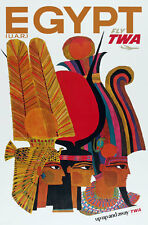 TX169 Vintage Egypt Egyptian Airline Travel Tourism Poster Re-Print A4