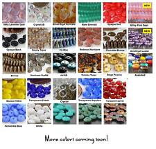 6mm Disc Rondelle Czech Glass Beads 50 Choose Color NEW ARRIVALS