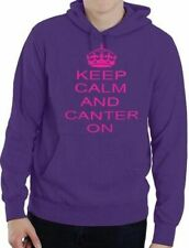 Keep Calm and Canter On Horse Riding Ladies Mens Unisex Hoodie Size S-XXL