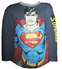 Boys Superman Man of Steel Long Sleeve Cotton Top Ages 2-8 Years