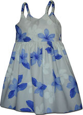 Toddlers Hawaiian Dresses Plumeria 100% Cotton 130-3551 NEW Made in Hawaii, USA.