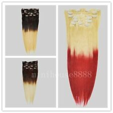 """balayage/ombre remy 20"""" 8pcs&100g clip in 100% human hair extensions"""
