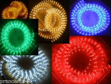 LED Rope Lights Chasing 3 Wire Round Multi-Function 110V White, Blue, Green, Red