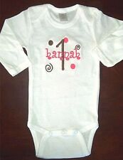 Personalized Baby Boy or Girl NAME AGE 1st First Birthday CREEPER Romper T Shirt