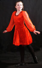 CELTIC-IRISH Dance-Lyrical DELUXE IRISH RED DANCE DRESS all Ages Fabulous outfit