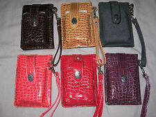 Textured Wallet with Pouch Cell Phone Cigarettes Purse with Strap NEW!