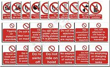 Manufacturing - Factory Safety Signs Work Place Catering  Building 40+  Pr2