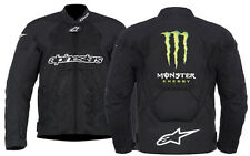 NEW ALPINESTARS MONSTER ENERGY MOTORCYCLE RIDING T-SCREAM AIR RIDING JACKET MENS