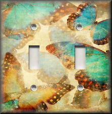 Metal Light Switch Plate Cover Antique Tranquil Butterflies Butterfly Decor
