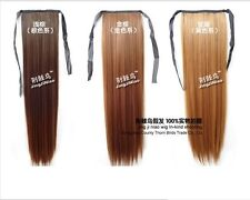 1PCS Straight Long Tie Band Hair Extension Ponytail 7 Colors 55cm TB852