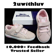 GENUINE LONSDALE PINK TODDLER GIRLS SHOES TRAINERS UK 6 7 8 9