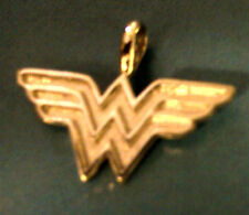 Wonder Woman charm pendant available in Sterling Silver or 14k Gold