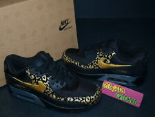 2012 Nike Wmns Air Max 90 Black Gold Leopard Running 325213-023