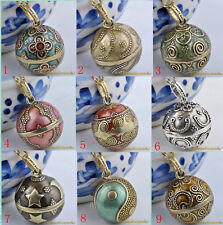 pregnant woman Lucky Wish Mexican Bole Harmony Bell Necklace Pendant NEW 20mm