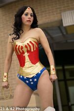 wonder woman corset costume with hotpants, briefs,skirt custom made to fit