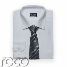 Boys White Shirt Tie set for Formal Prom Pageboy Wedding Communion Suits