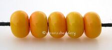 SQUASH YELLOW MINI * Lampwork Glass Spacer Beads TANERES sra - glossy or matte