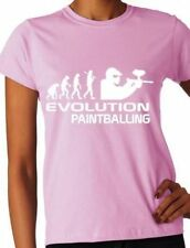Evolution Of Paintballing Ladies T-Shirt Gift  Size S-XXL