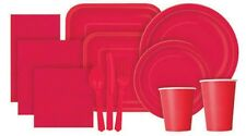 RUBY RED Tablecovers Napkins Party Bags Streamers Plates Cups Decorations