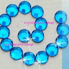 Aquamarine Blue Hotfix Rhinestones Iron On Flatback Crystal Glass Diam​ante DIY
