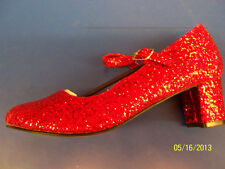 SCHOOL GIRL Shoes Dorothy Red Glitter Ruby Halloween Adult Costume Accessory