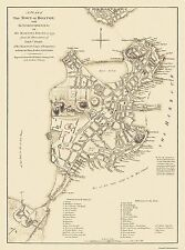 Historic City Maps - BOSTON MASSACHUSETTS MA CITY MAP BY H.M. CORPS OF ENG. 1775