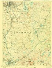 Historical Topographic Maps - MANCHESTER QUAD NEW HAMPSHIRE (NH) USGS 1905