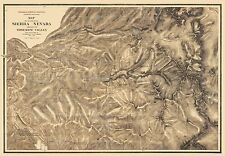 Topographic Maps - PART OF SIERRA NEVADA CALIFORNIA (CA) BY WHITNEY 1863-1867