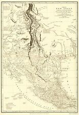NEW SPAIN MAP WITH INDIAN TRIBE DETAILS BY DE HUMBOLDT 1804