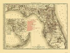 FLORIDA (FL) STATE MAP BY RAND MCNALLY & CO 1900