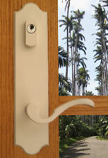 FPL Royal Entry Door Lever Set and Back Plates with Deadbolt