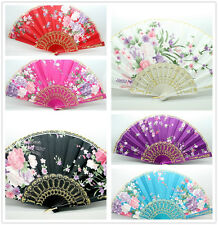 New Classic Style Wedding Dance Lace Cotton Folding Hand Held Fan- Flower