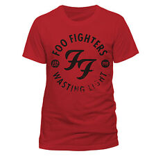 Foo Fighters Wasting Light Officially Licensed Men's Red T-Shirt. New Dave Grohl