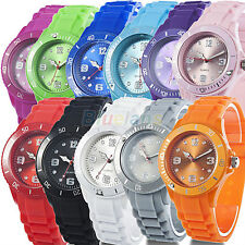 New Classic Stylish Silicon Jelly Strap Men's Women's Wrist Watch 11 Colors B00U