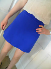 ♥New TOPSHOP Bright Blue A Line Mini Skater Skirt Size 6 8 10 12 14 16 RRP £34♥