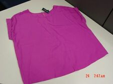 NWT Womens Plus Size Blouse Faded Glory Summer Airy Purple Top Stylish Trendy