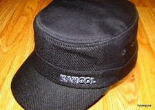 Kangol  Headwear  Wool  Flexfit  Textured  Army  Cap  Color  Black