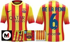 *13 / 14 - NIKE ; BARCELONA AWAY SHIRT SS / DE LA PENA 6 = KIDS & JUNIOR SIZE*