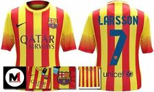*13 / 14 - NIKE ; BARCELONA AWAY SHIRT SS / LARSSON 7 = KIDS & JUNIOR SIZE*
