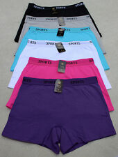 LOT QUALITY Activewear Plan Cotton Yoga Boyshorts Boxer Sports Panty S/M/L/XL