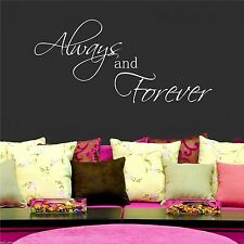 Always Forever Wall Art Sticker Quote Room Decal Mural Stencil Transfer Graphic