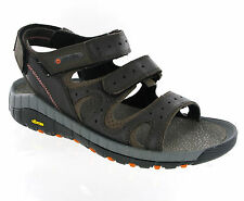 Mens Hi-Tec Sierra Canyon Pass Leather Walking Trail Velcro Sandals Size 7-12
