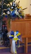 """Custom Made Large """"A"""" Line Church Alter Arrangement One-Sided Any Flowers/Colors"""
