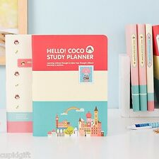 Hello Coco Study Planner Ver.3 Diary Journal Scheduler Organizer Agenda Notebook