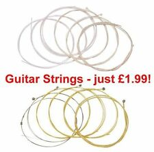 New Pack of 6 Nylon or Steel Guitars Strings for Classical or Acoustic Guitars