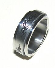 Tribal Stainless Steel Spinning Ring
