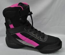 ds34 capezio battle boot black and hot pink dance sneaker trainers jazz boots
