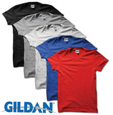 5 PACK MENS GILDAN PLAIN COTTON T SHIRTS MULTIPACK BRAND NEW FAST FREE DELIVERY