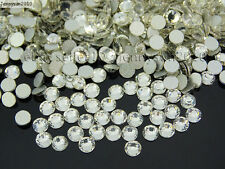 Top Quality Clear Crystal Round Rhinestones Flatback No Hotfix ss3 ~ss40 Pick